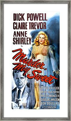 Murder, My Sweet, Dick Powell, Claire Framed Print