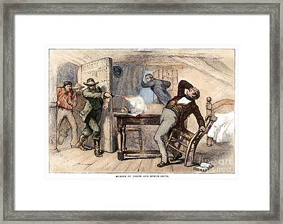 Murder Of Smith, 1844 Framed Print