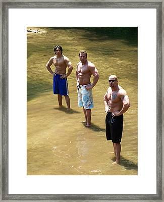 Muscle Trio Framed Print by Jake Hartz