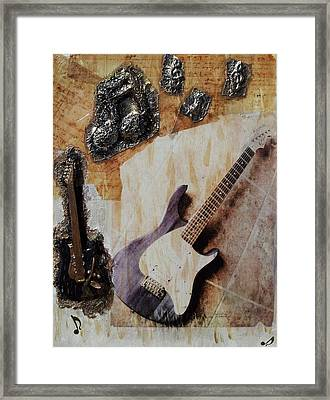 Music Etched In Time Framed Print by Kendra Steiner