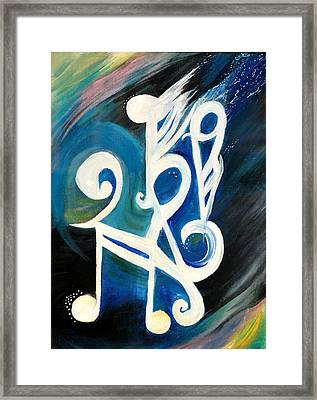 Music Firework Framed Print by Tifanee  Petaja