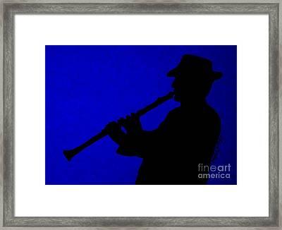 Music Man Framed Print by Julie Brugh Riffey