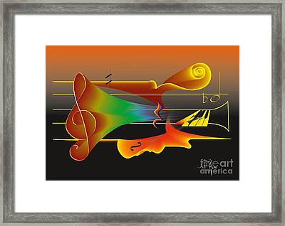 Framed Print featuring the digital art Musica Nocturna by Leo Symon