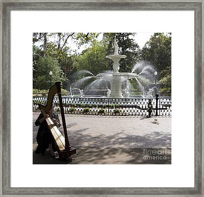Musical Fountain Framed Print by James Knights