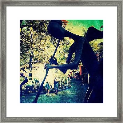 Musician Sculpture (puerto Vallarta) Framed Print