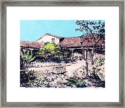 My Adobe Hacienda Framed Print by Roberto Prusso