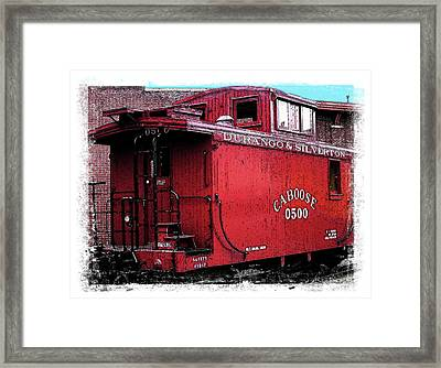 My Little Red Caboose Framed Print by Gary Baird