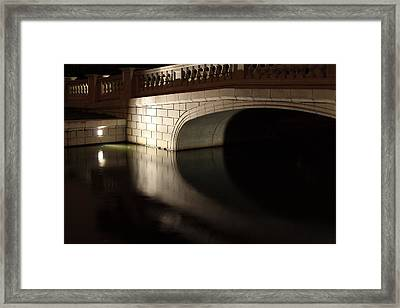Framed Print featuring the photograph Mystery Bridge by Scott Rackers