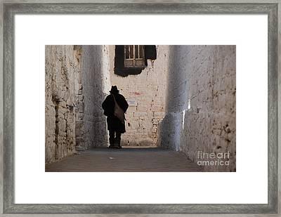 Mystery Man Framed Print by Marko Moudrak