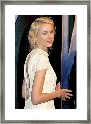 Naomi Watts At Arrivals For King Kong Framed Print