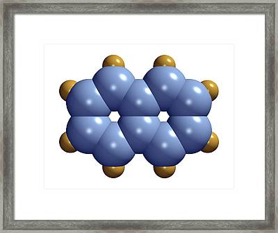 Naphthalene Molecule Framed Print by Dr Mark J. Winter