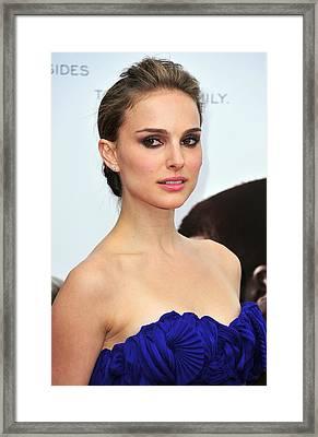 Natalie Portman At Arrivals Framed Print