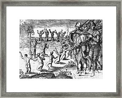 Native American Ceremony Framed Print