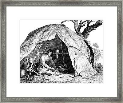 Native American Indian Medicine Man Framed Print by Science Source