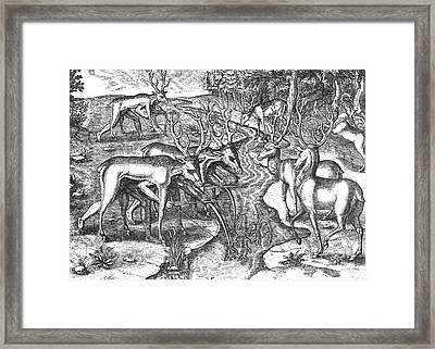 Native American Indians Camouflaged Framed Print