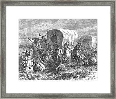 Native Americans: Gambling, 1870 Framed Print