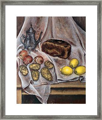 Naturemorte Framed Print by Vladimir Kezerashvili