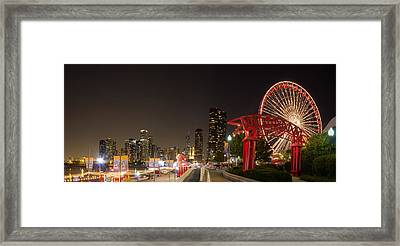 Navy Pier At Night Framed Print by Twenty Two North Photography