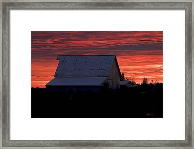 Near Kirklin Indiana Framed Print by Marsha Williamson Mohr