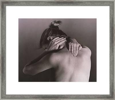 Neck Pain Framed Print