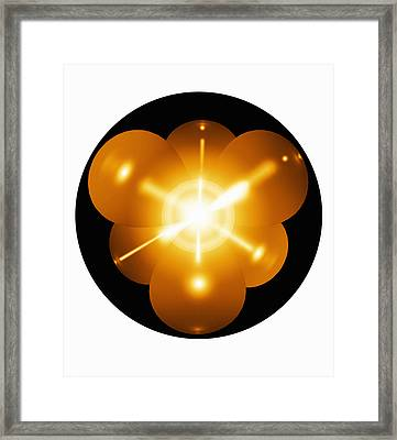Neon Atom, Artwork Framed Print by Mehau Kulyk