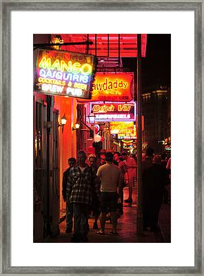 Neons On Bourbon Street Framed Print by Bourbon  Street