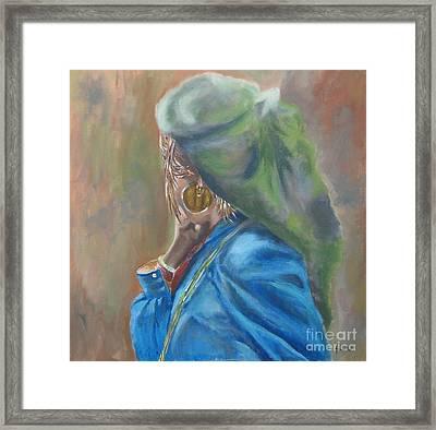 Framed Print featuring the painting Nepal by Annemeet Hasidi- van der Leij
