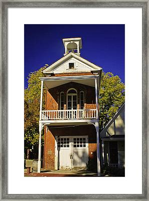 Nevada City Fire Station Framed Print by Sherri Meyer