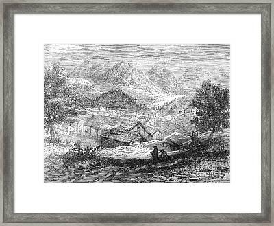 Nevada: Silver Mines, 1862 Framed Print by Granger