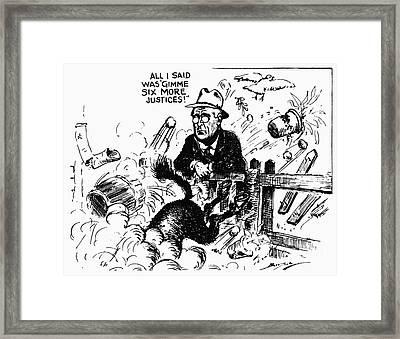 New Deal: Supreme Court Framed Print by Granger