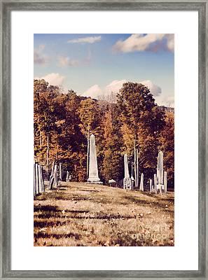 New England Cemetery Framed Print