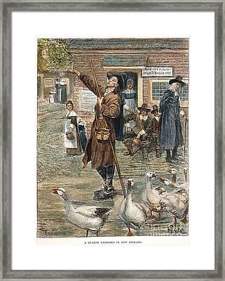 New England: Quaker, 1660 Framed Print