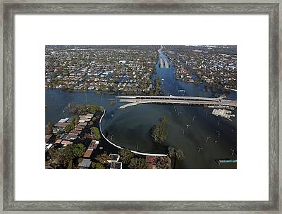 New Orleans Neighborhoods Flooded Framed Print by Everett