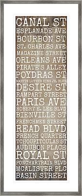 New Orleans Streets Framed Print by Susan Bordelon