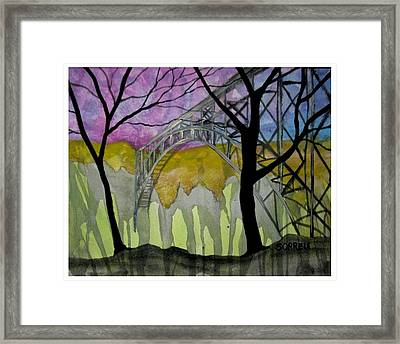 Framed Print featuring the painting New River George Bridge by Amy Sorrell