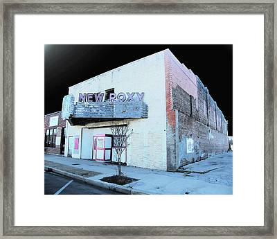 Framed Print featuring the photograph New Roxy Clarksdale Ms by Lizi Beard-Ward