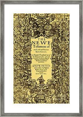 New Testament, King James Bible Framed Print