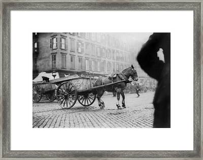 New York City, Garbage Collectors Framed Print