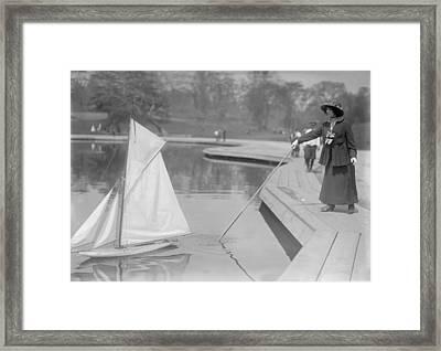 New York City, Start Of Toy Yacht Race Framed Print by Everett