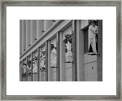 New York Mets Of Old In Black And White Framed Print