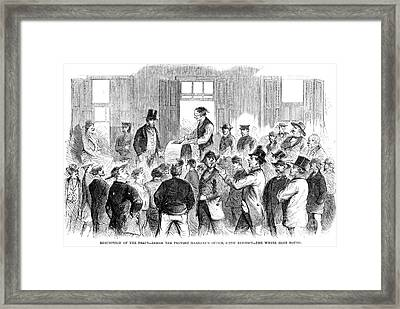 New York: Military Draft Framed Print by Granger