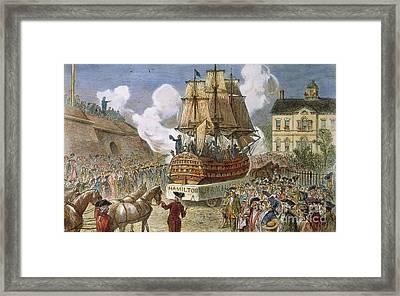 New York: Parade, 1788 Framed Print