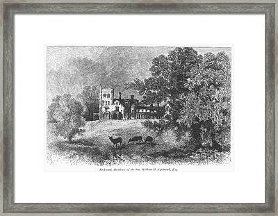 New York State: Villa Framed Print by Granger
