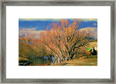 New Zealand Series - Creekside Autumn - South Island Framed Print by Jim Pavelle