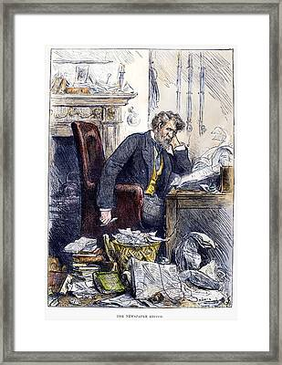 Newspaper Editor, 1880 Framed Print by Granger