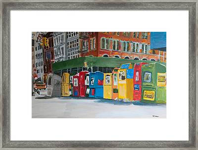 Newsstands Framed Print by Wayne Pearce