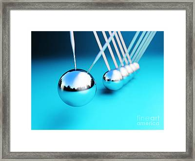 Newton Cradle 3d Framed Print