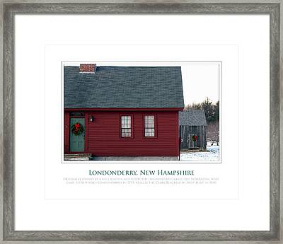 Nh Old Homes Framed Print by Jim McDonald Photography
