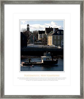 Nh Working Harbor Framed Print by Jim McDonald Photography