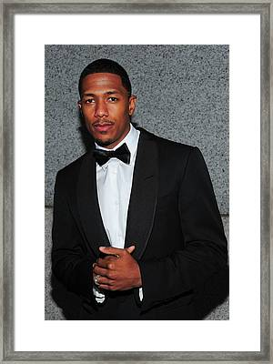 Nick Cannon At Arrivals For Operation Framed Print